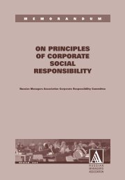 on principles of corporate social responsibility - CSR WeltWeit