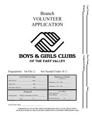 + Download Volunteer Application - Boys & Girls Clubs of the East ...
