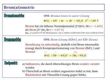 Bromo-, Iodometrie