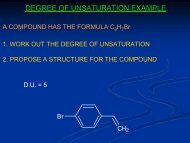 DEGREE OF UNSATURATION EXAMPLE - Wits Structural Chemistry