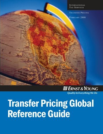 Transfer Pricing Global Reference Guide 2008
