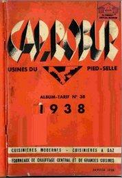 CAP ROBUR, fourneaux, cuisinières, chauffage; 1938 - Ultimheat