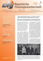 4 - bei der Bayerischen Finanzgewerkschaft