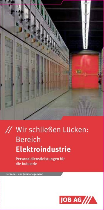 Elektroindustrie - Job AG