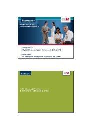 webMethods & ARIS − joined market approach - Software AG