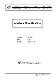 Interface Specification Interface Specification - Sensis