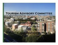 Tourism Advisory Committee Presentation 01.24.2013 - Historic ...