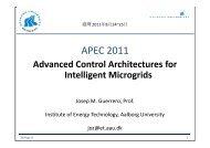 Advanced Control Architectures for Intelligent Microgrids - ESCI KSP