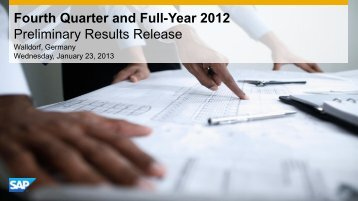 Fourth Quarter and Full-Year 2012 Preliminary Results ... - SAP.com