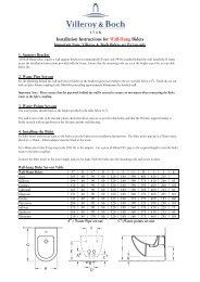 Installation Instructions for Wall-Hung Bidets