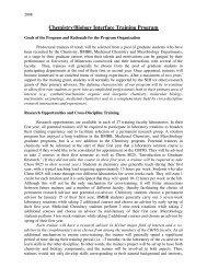 Chemistry/Biology Interface Training Program - Department of ...
