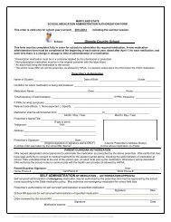 Maryland State School Medication Administration Authorization Form