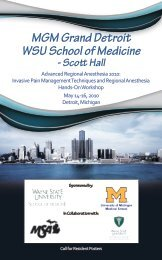 MGM Grand Detroit WSU School Of Medicine – Scott Hall