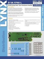 D VA 5760 L ver 1.1.indd - LYNX Technik AG