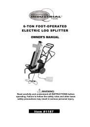 6-TON FOOT-OPERATED ELECTRIC LOG SPLITTER OWNER'S ...