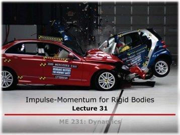 Impulse-Momentum for Rigid Bodies