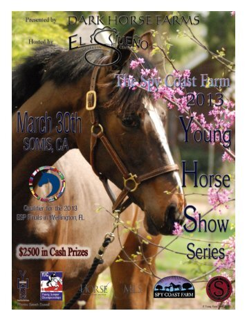 Join us Friday, March 29th for a Casual pre-show - Young Horse ...