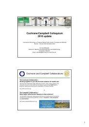 Cochrane/Campbell Colloquium 2010 (Eva Rehfuess) - Evidence ...