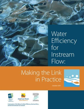 Water Efficiency for Instream Flow: Making the Link in Practice