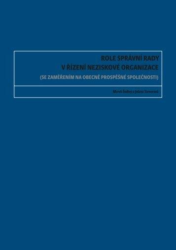role správní rady v řízení neziskové organizace - Neziskovky