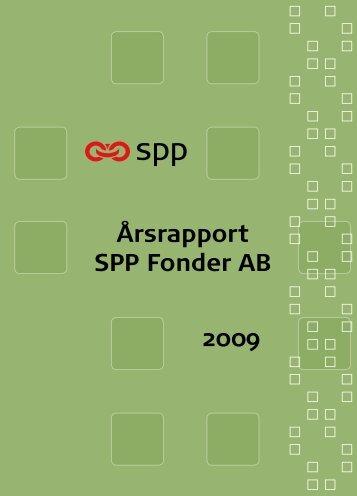 Årsrapport SPP Fonder AB 2009