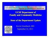 2010 2011 - Family and Community Medicine - University of ...