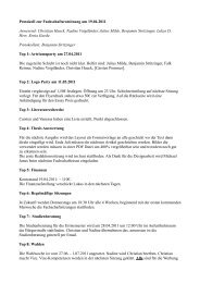 Protokoll zur Fachschaftsratsitzung am 19.04.2011 Anwesend ...