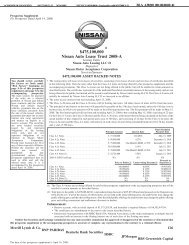 $475100000 Nissan Auto Lease Trust 2008-A