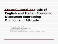 Cross-Cultural Analysis of English and Italian Economic Discourse: