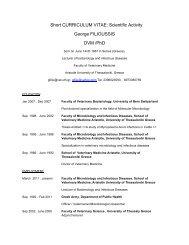 Short CURRICULUM VITAE: Scientific Activity George FILIOUSSIS ...