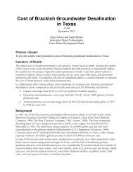 Cost of Brackish Groundwater Desalination in Texas - Texas Water ...