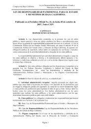 LEY DE RESPONSABILIDAD PATRIMONIAL PARA EL ... - Tijuana