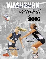 2006 volleyball guideB&W.indd - Washburn Athletics