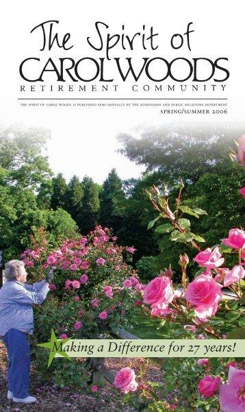 Spirit (Spring 2006) - Carol Woods Retirement Community