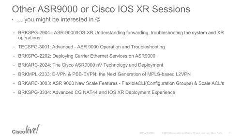 Other ASR9000 or Cisco IO