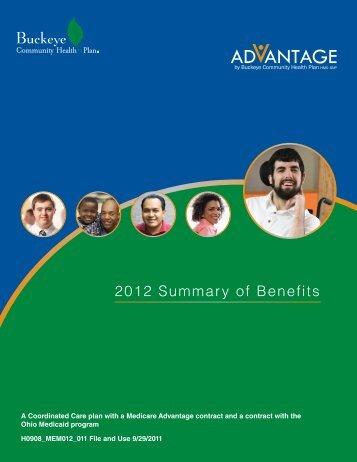 2012 Summary of Benefits - Medicare Advantage - Buckeye ...