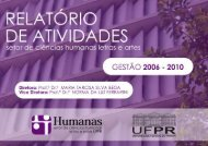 Relatório de Atividades da Gestão 2006-2010 - Setor de Ciências ...