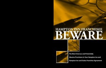 Hampton Inn Franchisee - BEWARE - Zarco Law