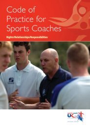 Code of Practice for Sports Coaches