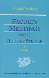 Faculty Meetings with Rudolf Steiner - Waldorf Research Institute