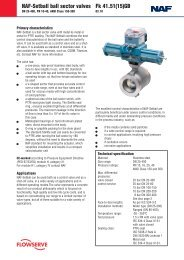 NAF-Setball ball sector valves Fk 41.51(15)GB - Fagerberg