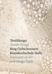 Textildesign Textile Design Burg Giebichenstein Kunsthochschule ...
