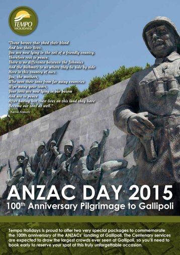 Tempo Tours Anzac Travel - Ipa.org.nz