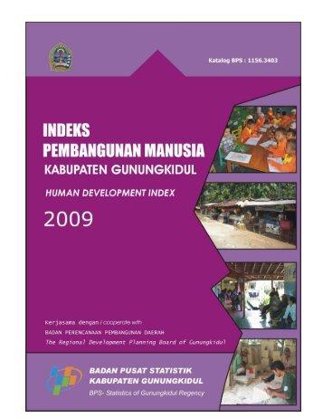 Indeks Pembangunan Manusia Kabupaten Gunungkidul 2009