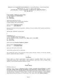 Celé znění smlouvy - z 21.06.2012 - Veřejné zakázky - Ministerstvo ...
