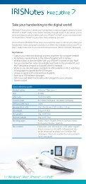 IRISNotes™ Executive 2 : ID card : English - Hjelpemiddeldatabasen