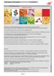 TGK Katalog / TGK Catalog 12.10.2012 Spectrum Glass