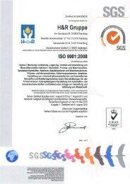 DIN EN ISO 9001 - SRS Schmierstoff Vertrieb GmbH