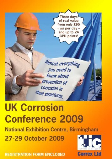 UK Corrosion Conference 2009 - the Institute of Corrosion