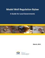 Model Well Regulation Bylaw Guide - Ministry of Community, Sport ...